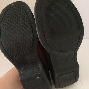 Dansko Shoes - Dansko Golden Brown Leather Clogs Closed Heel EUC